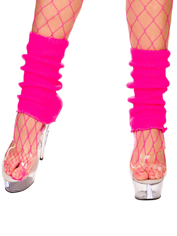 Adult 80's Leg Warmers (Neon Pink)