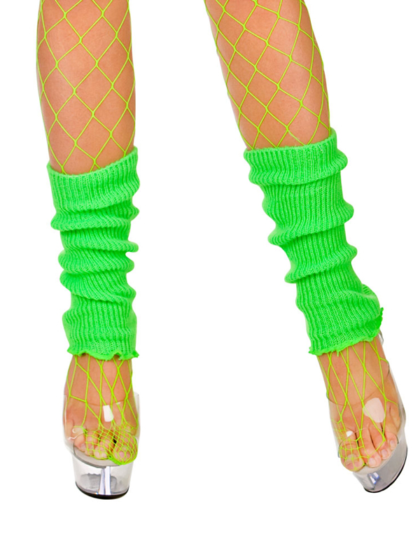 Adult 80's Leg Warmers (Neon Green)