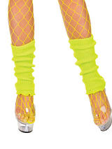 Adult 80's Leg Warmers (Neon Yellow)