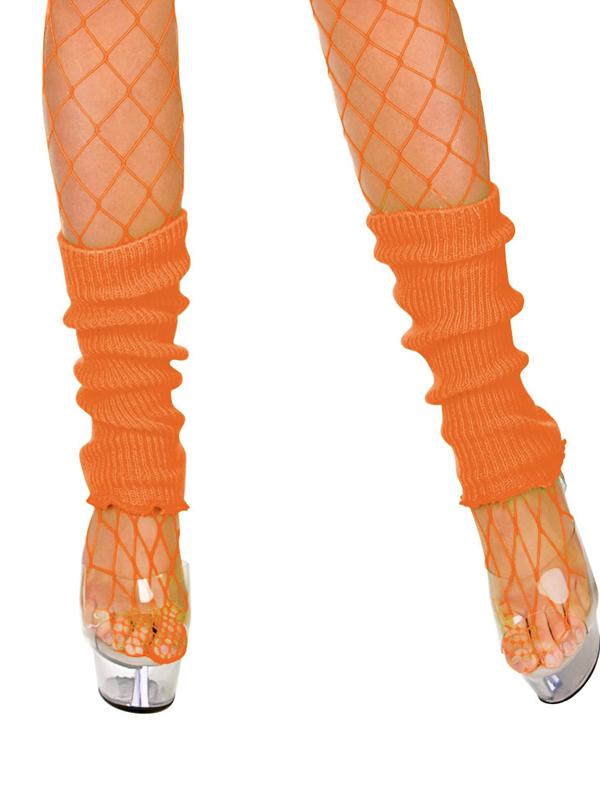 Adult 80's Leg Warmers (Neon Orange)
