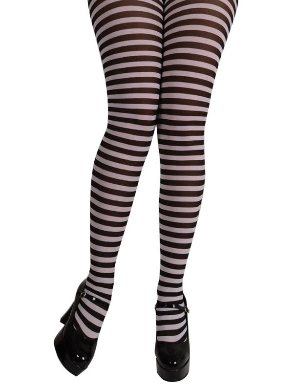 Black & White Candystripe Tights