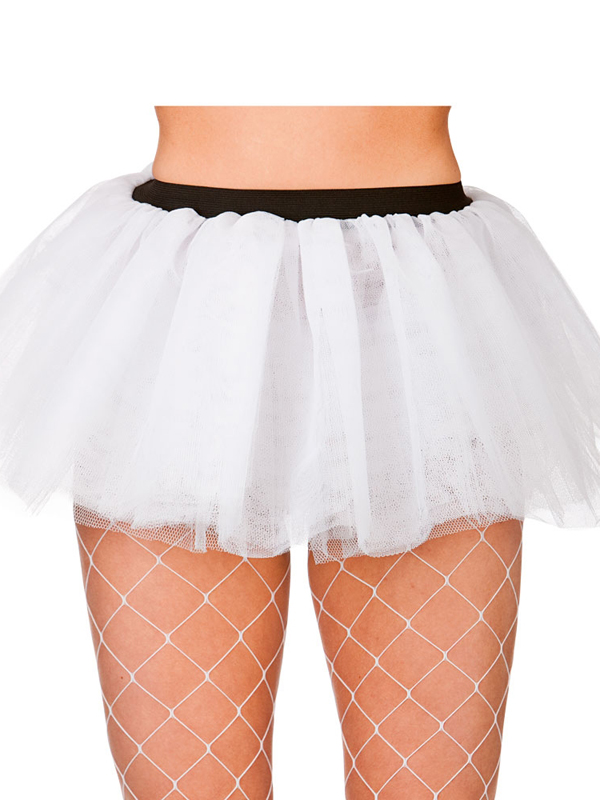 Adult Budget 2 Layer Tutu (White)