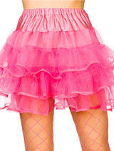 Adult 80's Ruffle Tutus (Neon Pink)