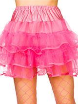 Adult 80's Ruffle Tutus (Neon Pink)