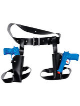 Thigh Twin Holster Set With Guns