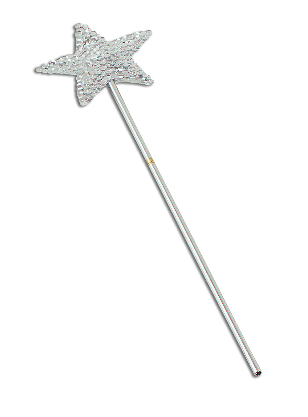 Silver Sequin Star Wand
