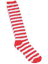Clown Socks Red White Stripe