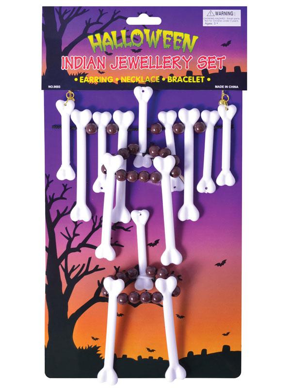 Bone Necklace Jewellery Set