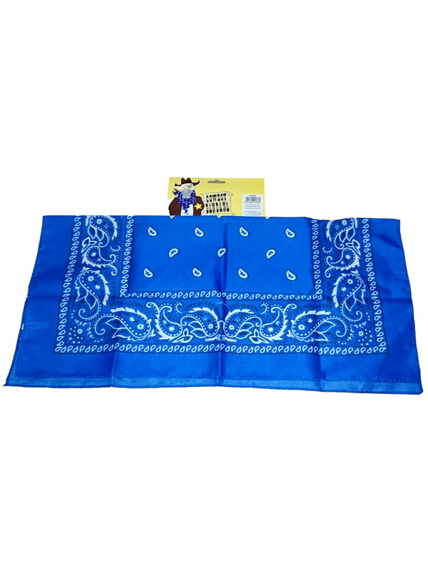 Adult Cowboy Bandana Blue