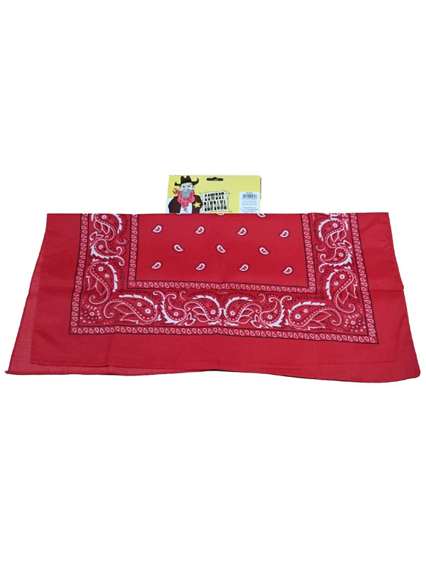 Adult Cowboy Bandana Red
