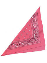 Adult Ladies Cowgirl Bandana. Pink