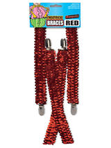 Sequin Braces Red