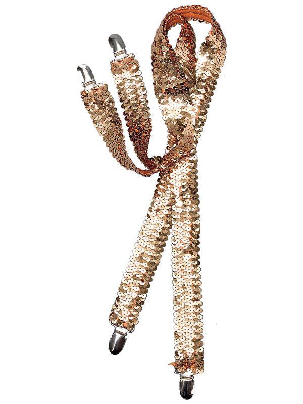 Sequin Braces Gold