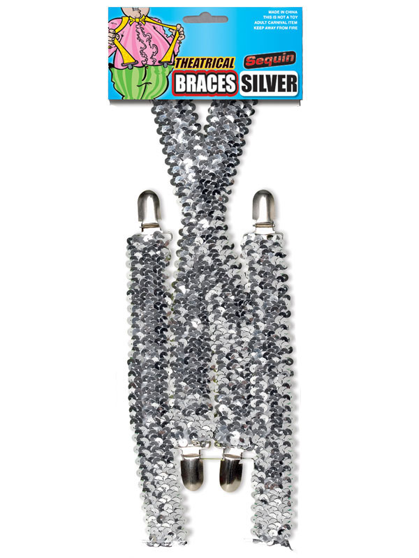 Sequin Braces Silver