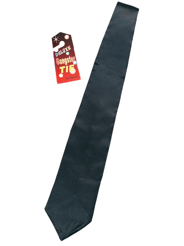 Mens Gangster Tie Black