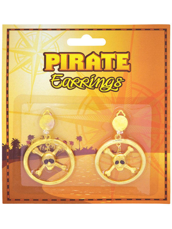 Pirate Skull Metal Ear Rings