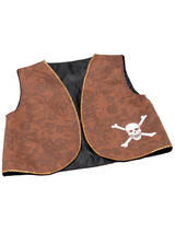 Pirate Waistcoat Brown Distressed