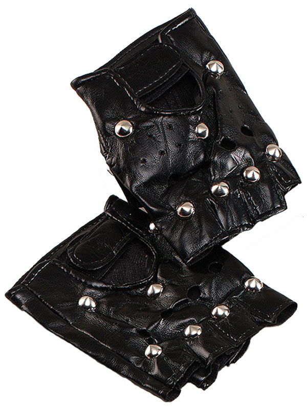 Studded Punk Gloves