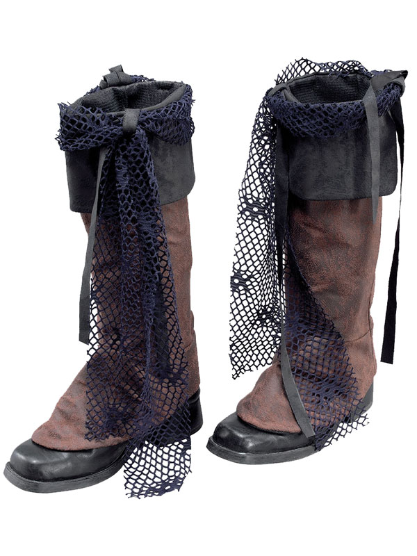 Pirate Boot Tops Brown Distressed Look