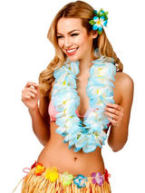 Large Two Tone Petal Lei (Sky Blue)