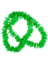 Adult Small Petal Lei 2pc Neon Green