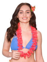 Adult Small Petal Lei 2pc Red