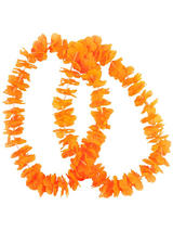 Adult Small Petal Lei 2pc Neon Orange