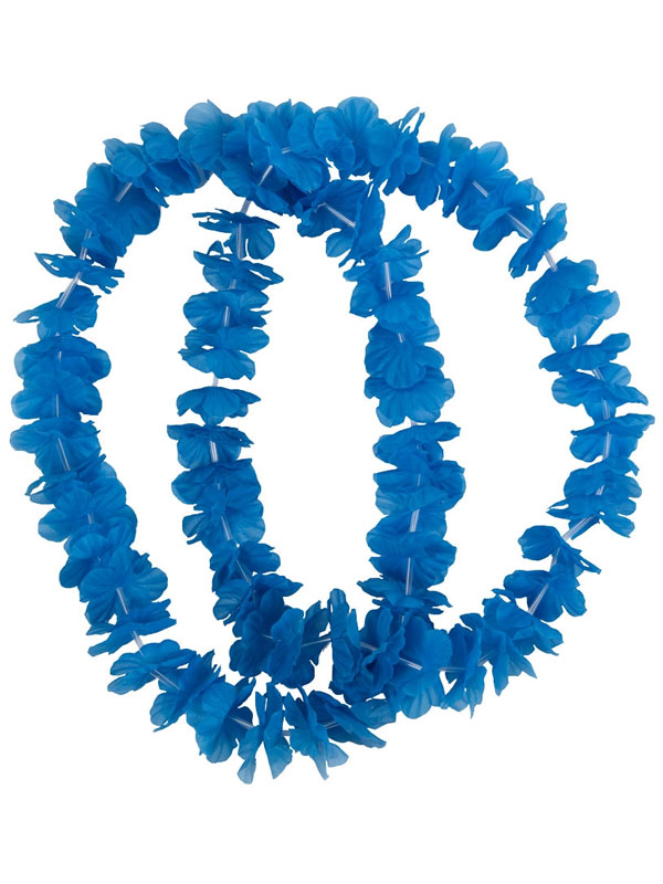 Adult Small Petal Lei 2pc Blue