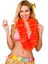 Large Petal Lei Flower (Orange)