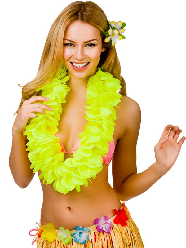 Large Petal Lei Flower (Yellow)
