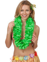 Large Petal Lei Flower (Green)