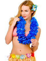 Large Petal Lei Flower (Royal Blue)