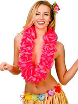 Large Petal Lei Flower (Hot Pink)