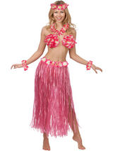 Hawaiian Honey Costume Set Hot Pink