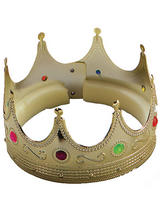 Adult Mens King Crown Gold With Jewels