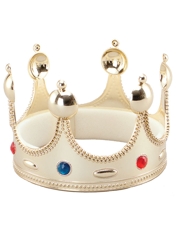 Adult Mens Kings Crown. Superior. Gold