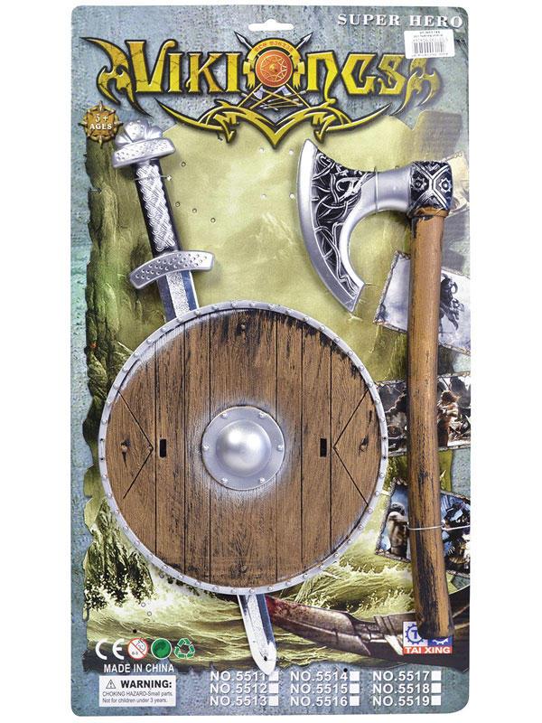 Viking Sword Shield + Axe Set Thumbnail 2