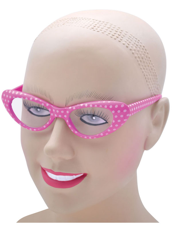 Rock 'N' Roll Pink White Glasses