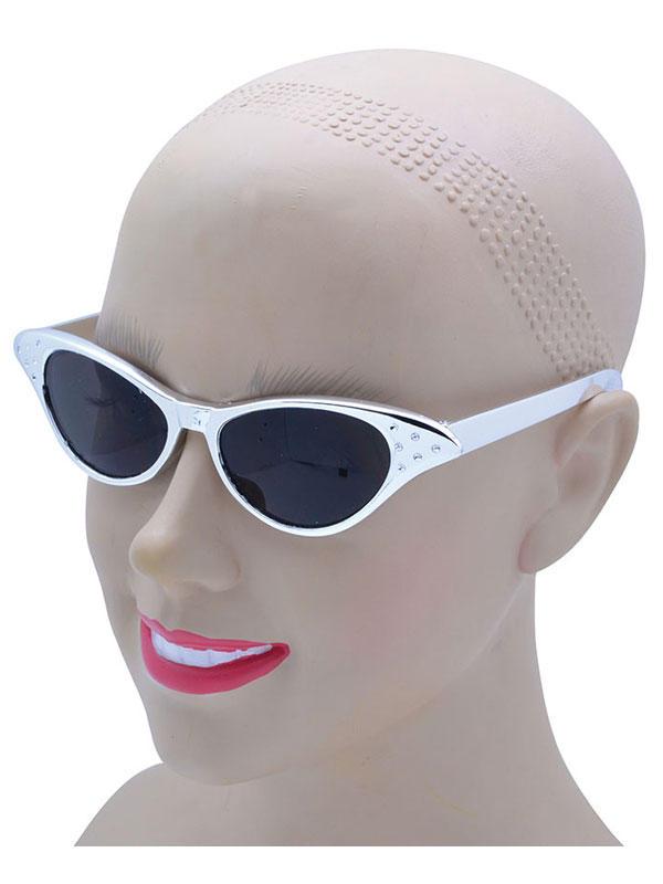 Silver Plastic Sun Glasses