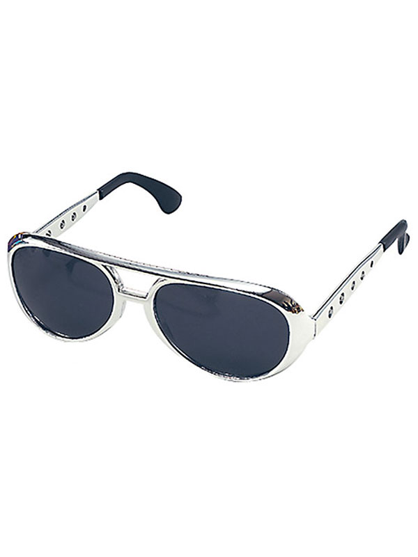 Elvis Sun Silver Glasses