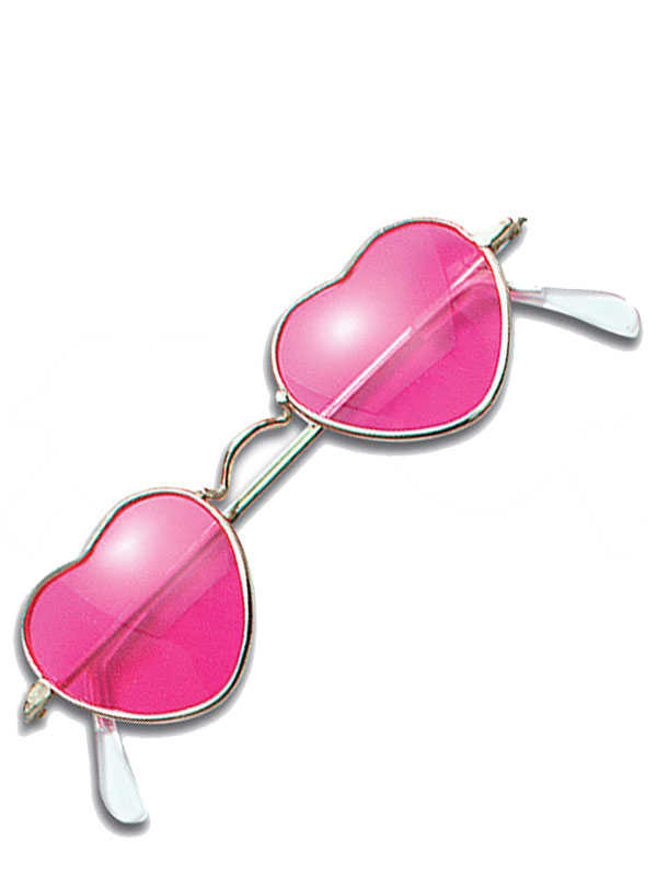Heart Shaped Pink Glasses