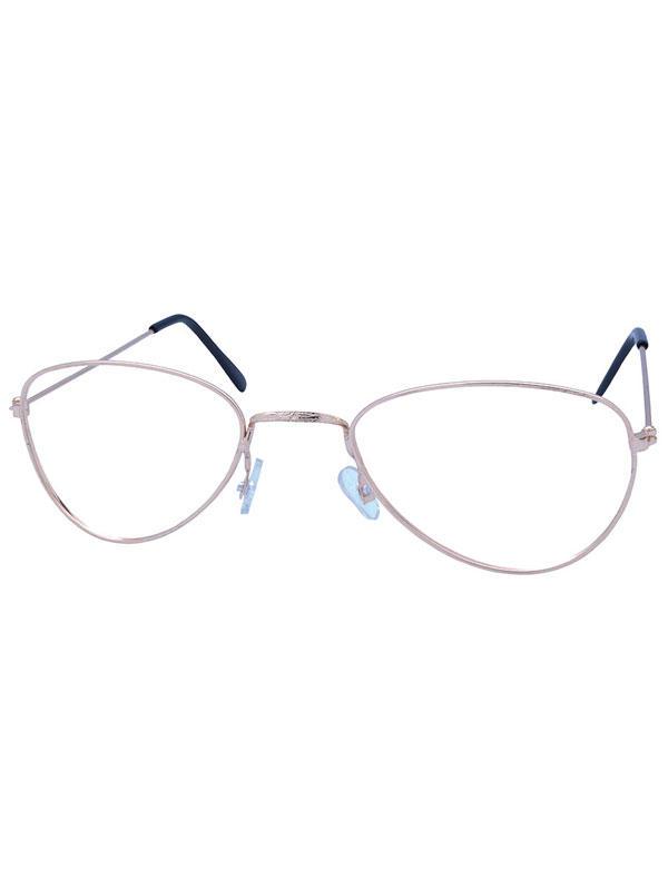Old Lady No Lens Glasses