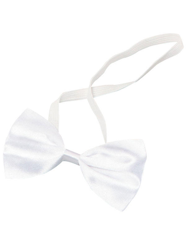 Mens Bow Tie Small White Budget