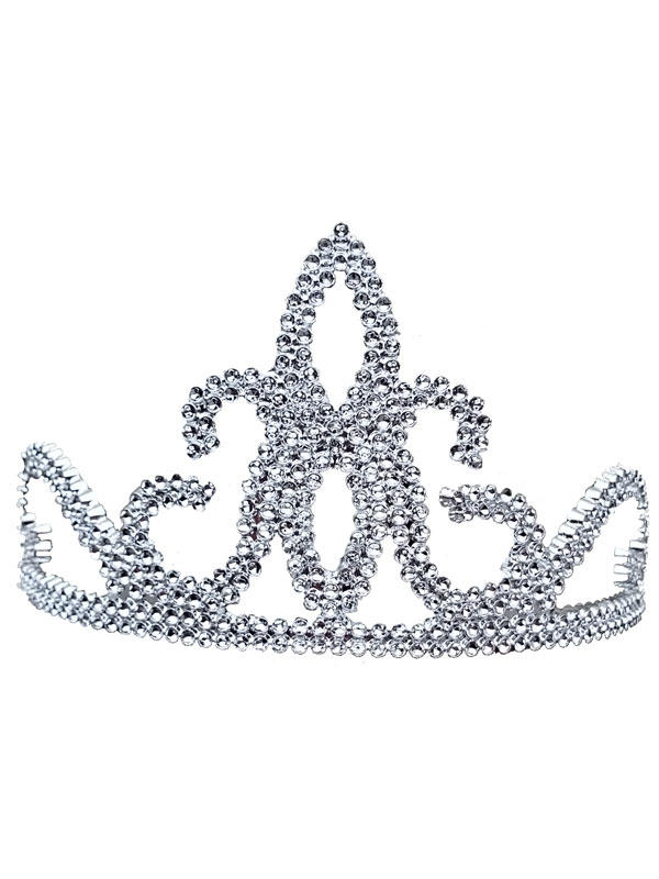 Ladies Girls Tiara. Plastic. Silver