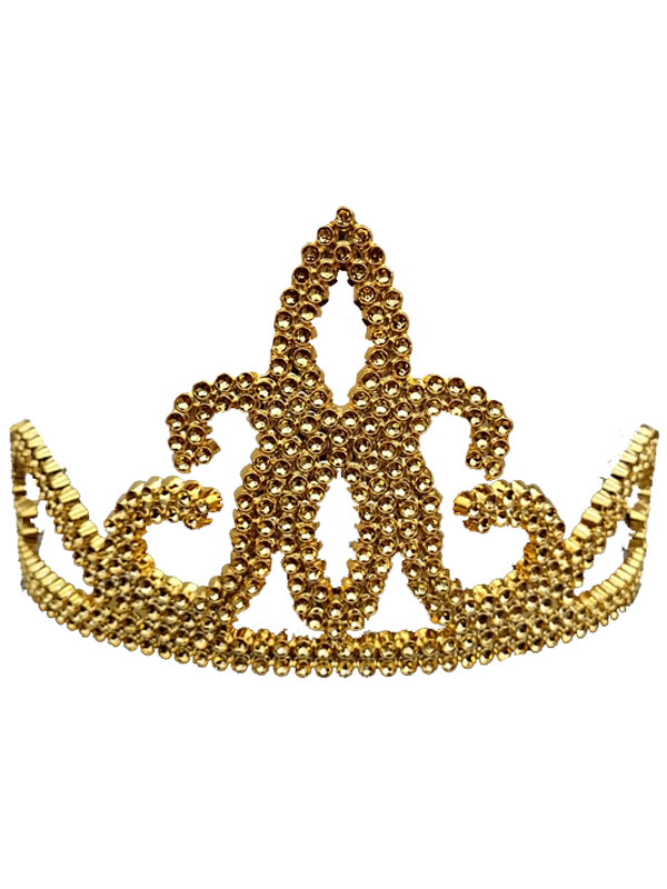 Ladies Girls Plastic Gold Tiara