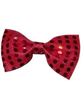 Bow Tie Sequin Red