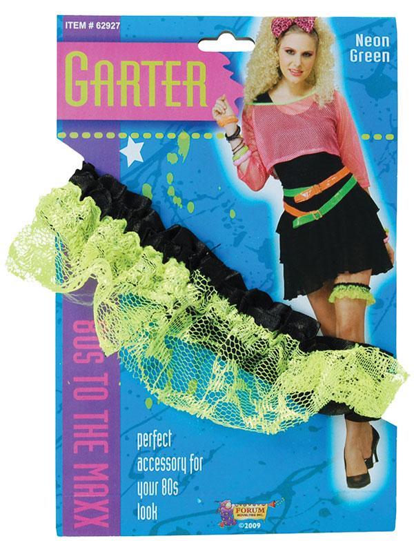 Neon Lace Garter Green