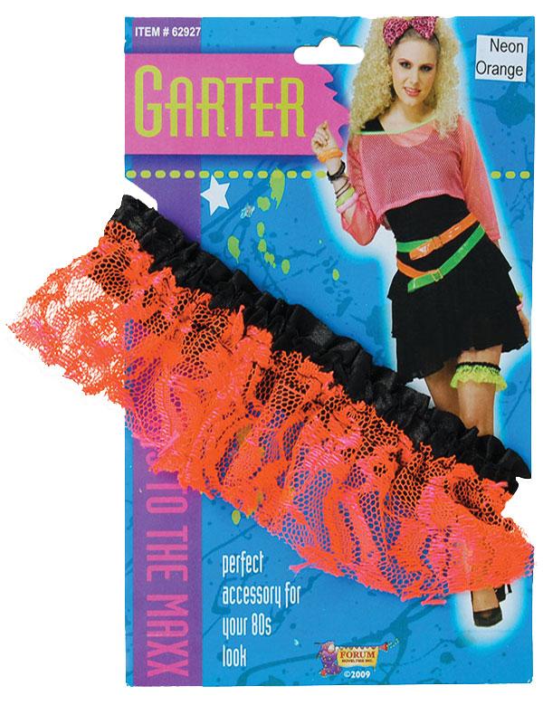 Neon Lace Garter Orange