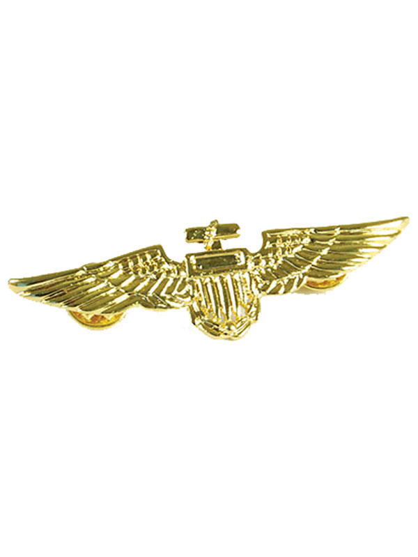 Aviator Pin Metal Gold Colour