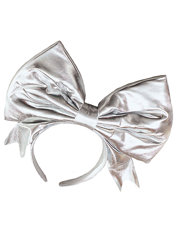 Bow On Headband Silver